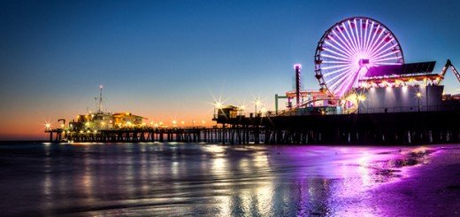Santa-Monica-Beach-At-Nigh